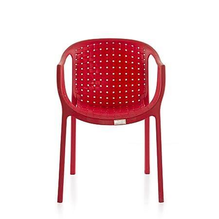 Varmora Designer Chair (Ola Netted - Red)