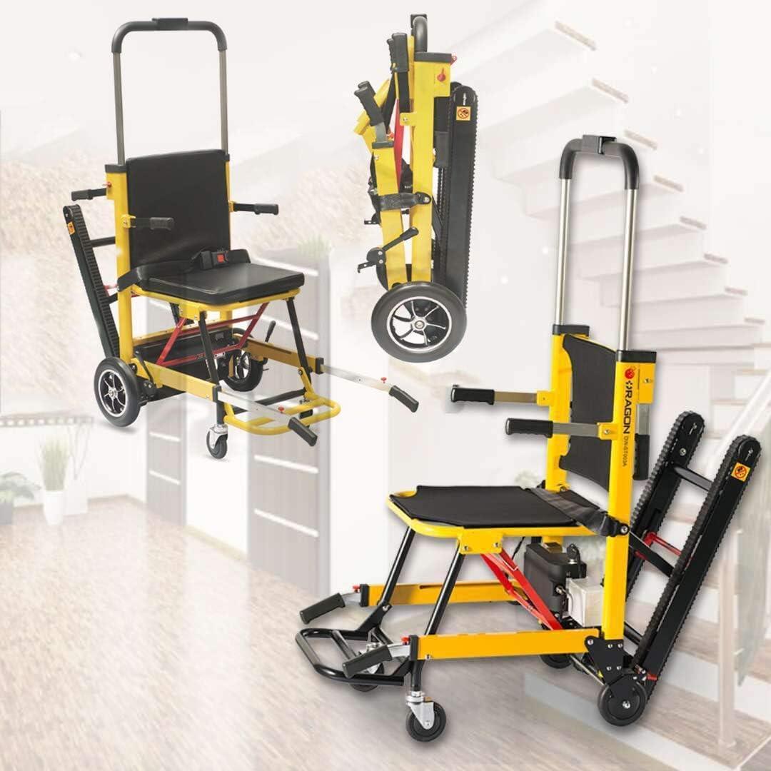 Ancianos Discapacitados Sillas de Ruedas Autopropulsadas Luz Plegable Eléctrica Compacta Silla de Ruedas Eléctrica Móvil Escalera Auxiliar Escaladora Reposabrazos Ajustable para Ancianos Arriba Y Aba