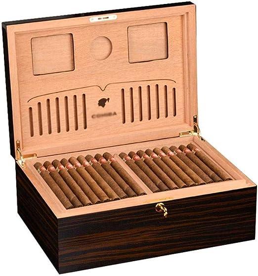 HYZXJHE Caja de Puros, humidor de cigarros Caja de Puros de Cedro Caja de Cigarrillos Humidor de Madera Humidificador Gran Capacidad Hidratante: Amazon.es: Hogar