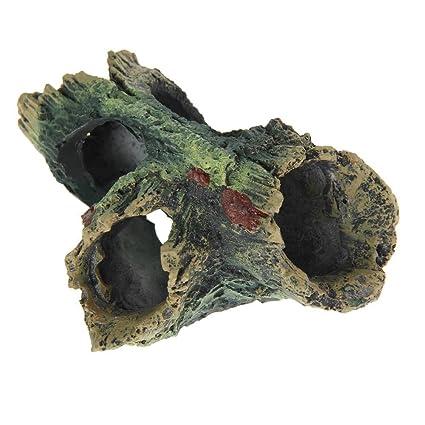 Ornamento del Acuario - TOOGOO(R) Madera de arbol del Ornamento del Acuario Decoracion