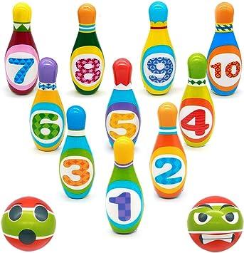 Bowling Kinder Set Mini Kegelspiel Für Kinder Spiele Für Draußen Kinder Geschenke Spielzeug Für 3 4 5 Jährige Jungen Mädchen 12 Stück 10 Stabil Die