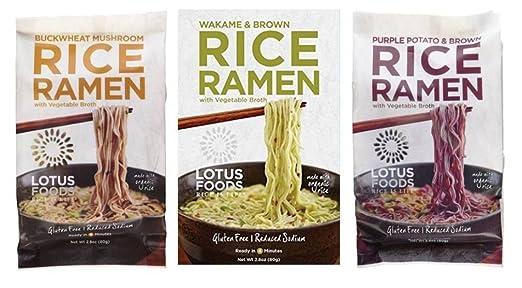 Lotus Foods Arroz Ramen y bolsa de caldo 3 Sabor 6 Variedad ...