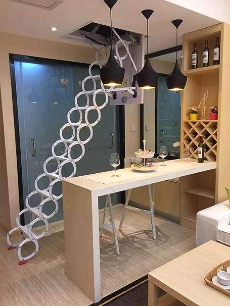 NICOLAS Escaleras retráctiles manuales para Colgar en la Pared de Interiores, con Plataforma Duplex para el hogar, escaleras Simples y Plegables, escaleras retráctiles manuales, Escalera de 1 a 2,9 m: Amazon.es: Hogar