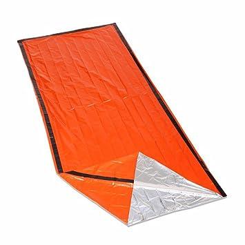 iZoeL Saco de Emergencia Bivvy Albergue Saco de Dormir Impermeable Reutilizable Portátil Supervivencia Outdoors Naranja: Amazon.es: Deportes y aire libre