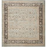 Safavieh Vintage Collection VTG571H Transitional Oriental Light Blue and Black Distressed Square Area Rug (6'7″ Square) Review