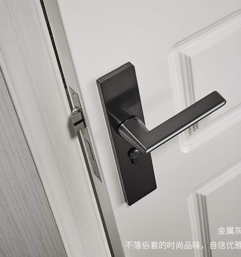 ALILEO Cerradura de la puerta dormitorio interior cerradura de la puerta blanco y negro gris luminosa moderna cerradura de la puerta silenciosa puerta de madera maciza cerradura universal: Amazon.es: Bricolaje y herramientas