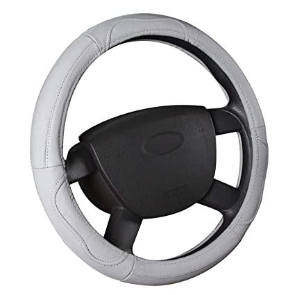 15 Antideslizante Transpirable Durable SFONIA Cubierta del Volante Fundas para Volante de Cuero Artificial Universal 37-38cm