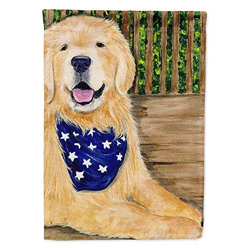 (Caroline's Treasures SS8972CHF Golden Retriever Flag Canvas House Size, Large, Multicolor)