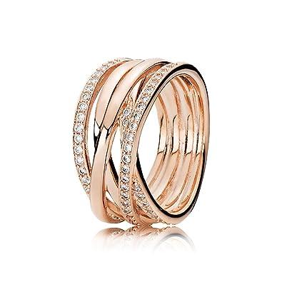 3e1b2b9c1 Amazon.com: Pandora Entwined Rose Gold Size 7 Ring 180919CZ-54: Jewelry