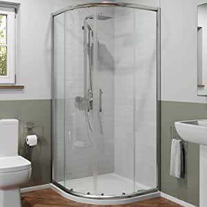Luxura - Mampara de Ducha (900 x 900 mm, Cristal de Seguridad de 6 mm, Enmarcado): Amazon.es: Hogar