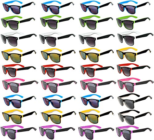 36 Pieces Per Case Wholesale Lot Sunglasses. Assorted Colored Frame Fashion Sunglasses.Bulk Sunglasses - Wholesale Bulk Party Glasses, Party - Lot Sunglasses