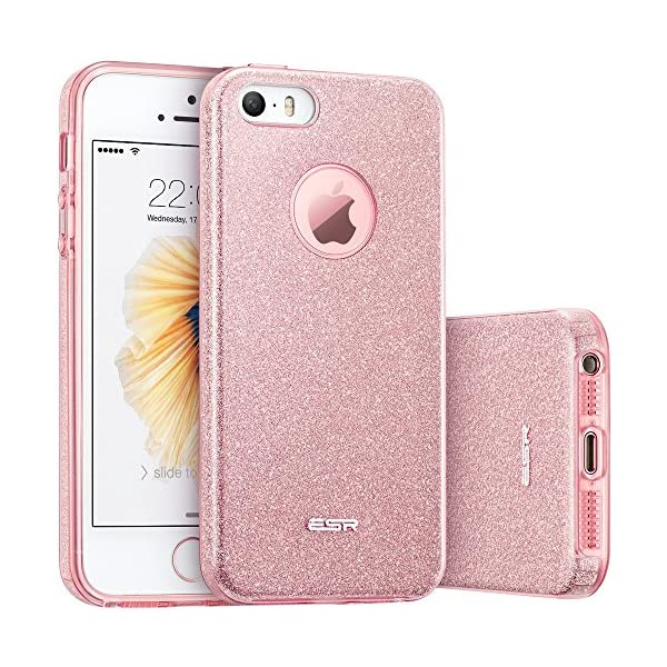 Coque Iphone Se Esr Bling Bling Gliter Sparkle Coque Iphone 5 5s