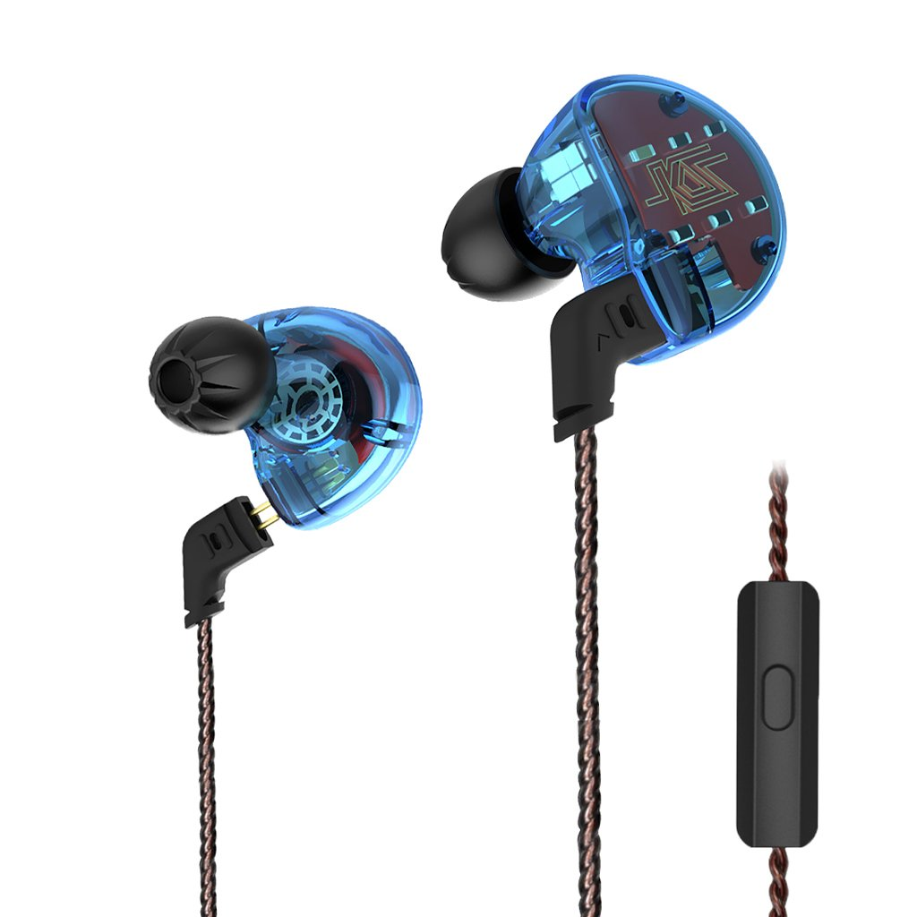 MagiDeal ZS10 1 Dynamic & 4 Balanced Armature Driver Hybrid Technology Earphone Blue