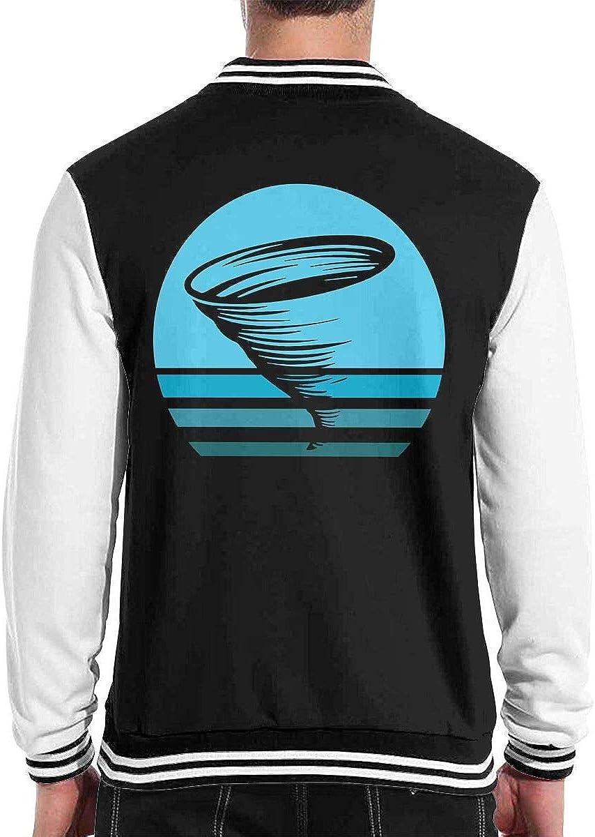 Tornado Ocean Sunset Mens Fashion Baseball Uniform Jacket Sport Coat