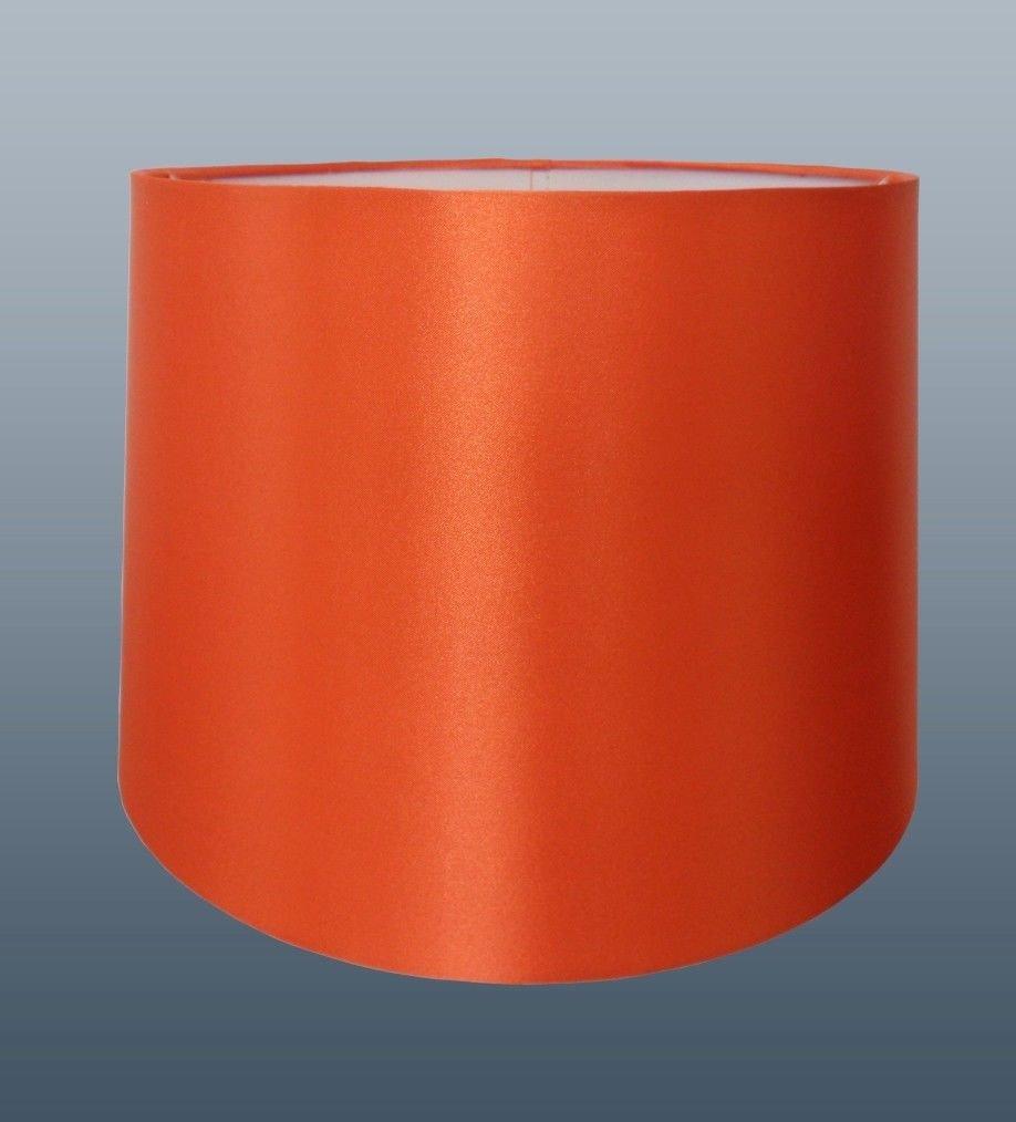 12 faux silk orange lampshade amazon lighting mozeypictures Choice Image