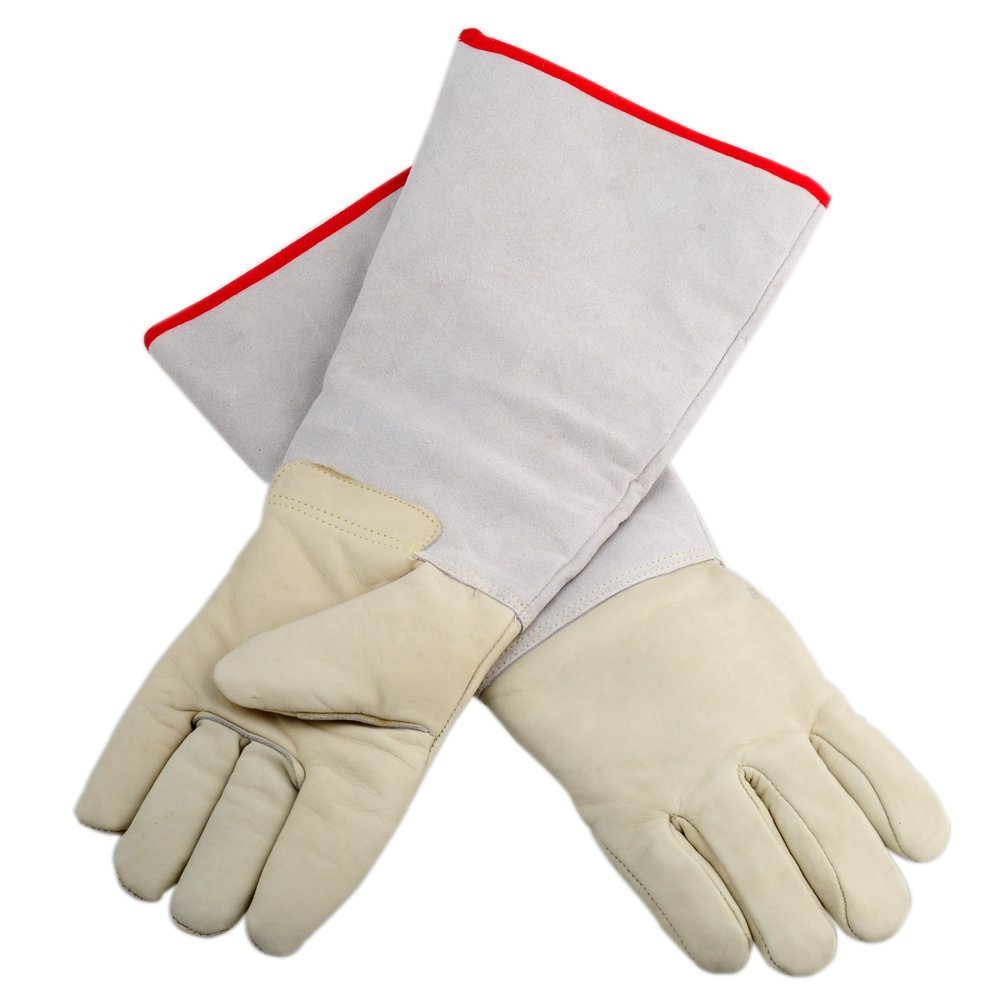 Yunanwa 17.72'' Ultra Long Cryogenic Gloves Waterproof Protective Gloves Liquid Nitrogen Frozen Gloves Cold Storage (1 pair)