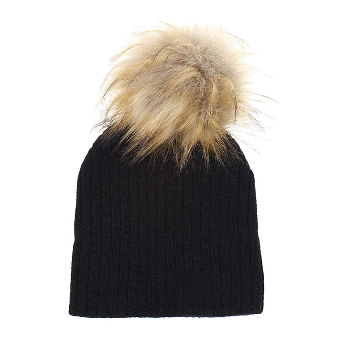 81387a76941 Amazon.com  Eohak Kid Pom Faux-Fur Beanie