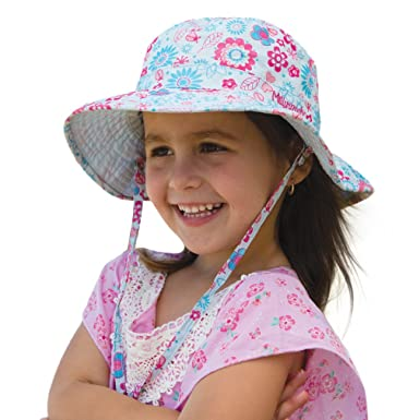 Girls Happy Flower Sun Hat (Large)  Amazon.in  Clothing   Accessories 1f3c4cba56a