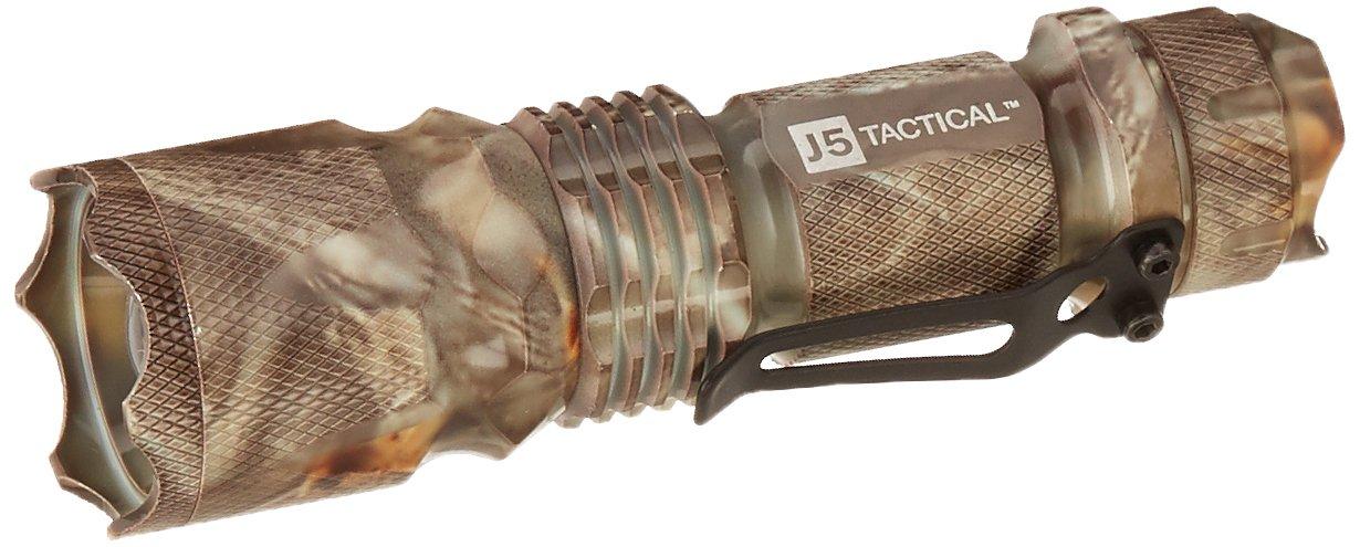 J5 Tactical V1-PRO Flashlight - The Original 300 Lumen Ultra Bright, LED Mini 3 Mode Flashlight (Black) V1-Pro Black
