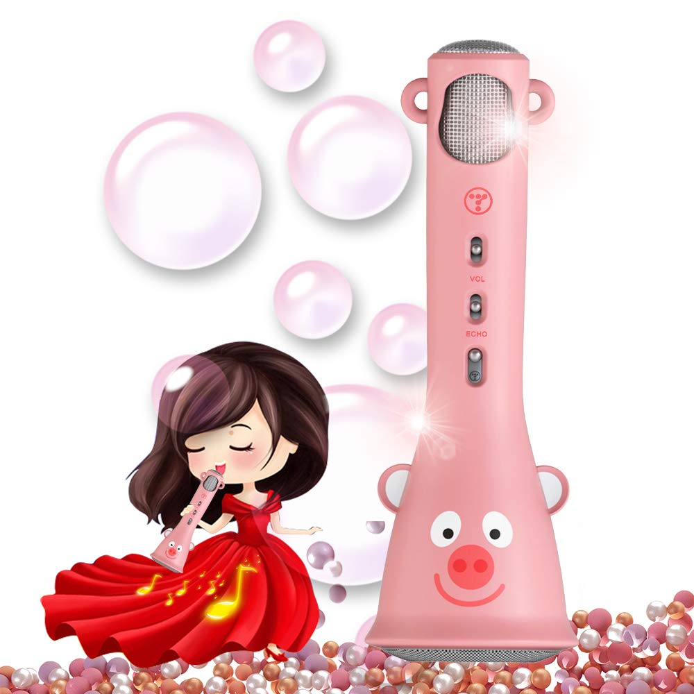 TOSING Kids Karaoke Microphone, Best Birthday Gifts for Girls 2019, Wireless Bluetooth Handheld Kareoke Machine for Singing Party, Creative Giftable Toys for 4 5 6 7 8 9 10th Years Old Teens Girls by TOSING (Image #1)