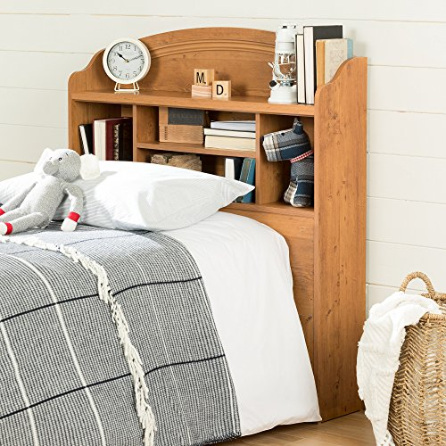 home, kitchen, furniture, bedroom furniture, beds, frames, bases, headboards, footboards,  headboards 2 picture South Shore Prairie Bookcase Headboard with Storage, Twin in USA
