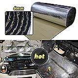 LINGDA 21.53 SqFT 10mm Heat Shield Thermal Sound Insulation Proofing Deadener Mat Car Noise Control Acoustic Dampening Moistureproof Waterproof (40inch X 80inch)