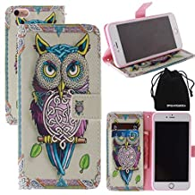 """DRUnKQUEEn For iPhone6 Plus Case, Wallet Case for iPhone 6 Plus (5.5"""") Side Flip Wallet PU Leather Stand Case Cover with Magnetic Closure"""