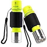 Garberiel 2 Pack Scuba Diving Flashlight, Super Bright Dive Light 3 Modes Underwater Waterproof Torch for Scuba Diving, Night