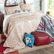 Vintage Horse Cotton Bedspread