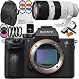 Sony Alpha a7R III Mirrorless Digital Camera with Sony FE 70-200mm f/2.8 GM OSS Lens 9PC Accessory Bundle – Includes 64GB SD Memory Card + MORE