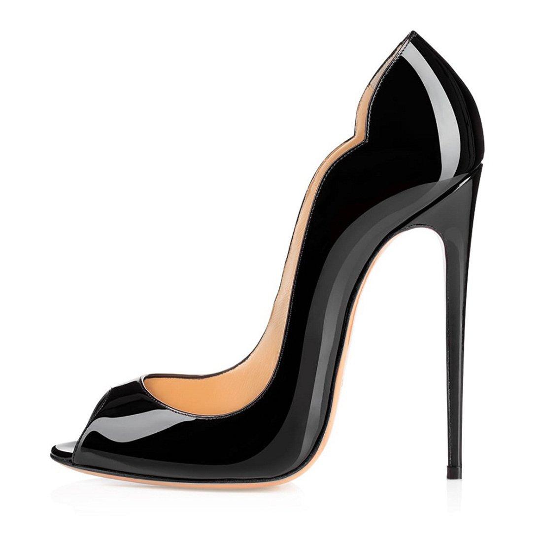 Soireelady - Zapatos con tacón Mujer 36 EU negro