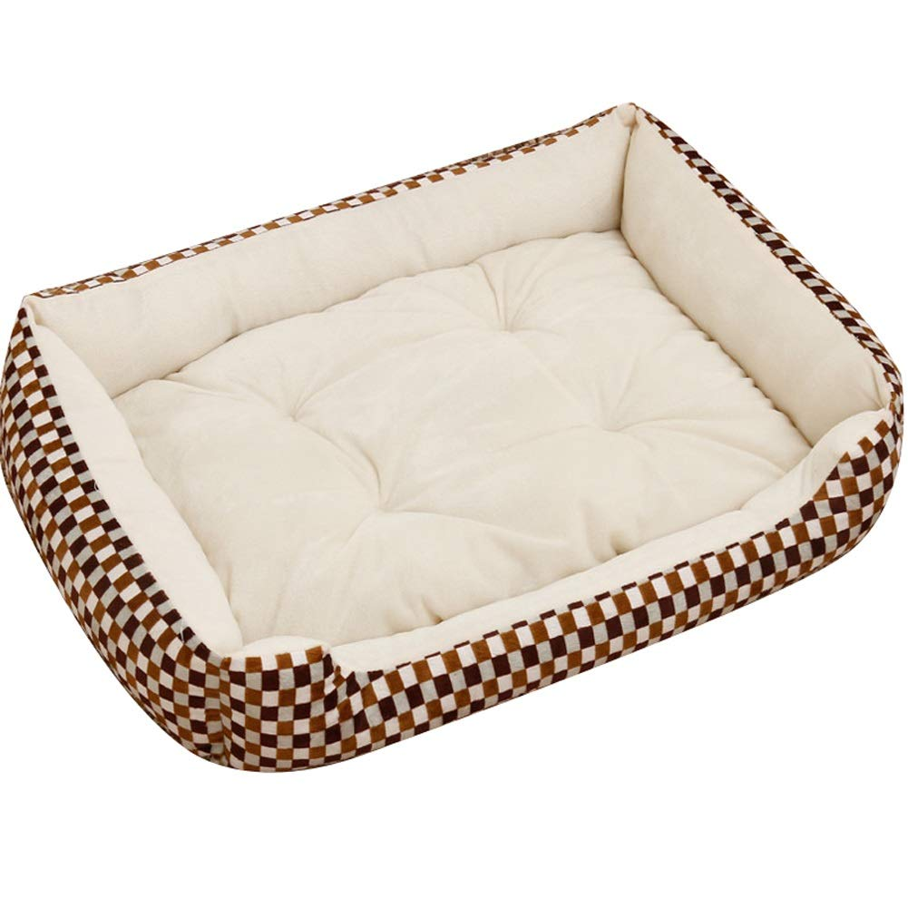 A X A X Pet house Vintage Deer Large Dog Bed Cat Pet Mat, Using Short Plush Frabric, Four Seasons Detachable And Washable (color   A, Size   X)