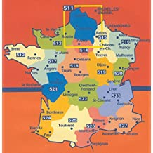Michelin Map No. 238 Centre France: Orleans, Gien, Auxerre, Tours, Bourges, Saulieu, Nevers, Moulins, Chateauroux, Montlucon (Berry-Nivernais)