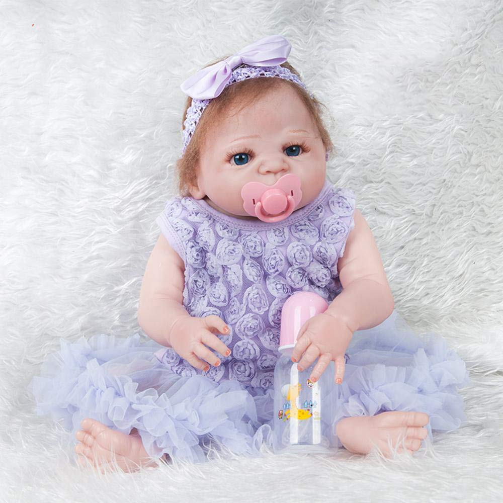 Hongge Reborn Baby Doll,Lebensechte Wiedergeburt Puppe Simulation Baby Puppe Spielzeug Geschenk 57cm
