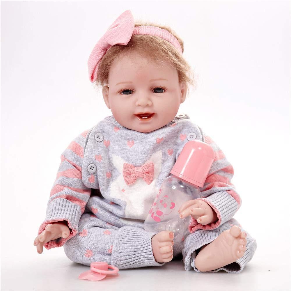 Hongge Reborn Baby Doll,Reborn muñeca Realista Realista bebé muñeca Juguete Regalo 55cm