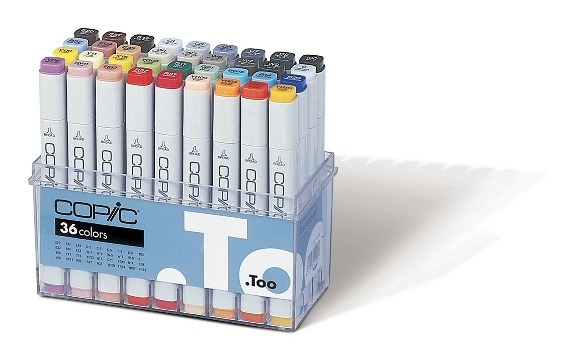 Copic Marker Set (Pack of 36) Copic Marker 36 Piece Set