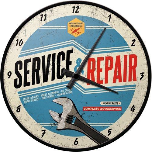 Nostalgic-Art Garage 51062 Best Garage Nostalgic-Art - Service & Repair, Wanduhr 31cm 962429