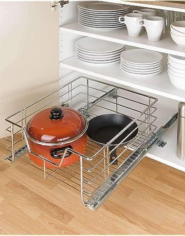 Wenko 5911500 - Cesto extraíble para armarios de cocina (tamaño grande)