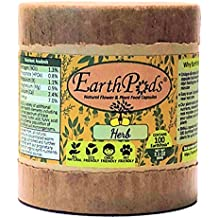 EarthPods HERB Organic Fertilizer Spikes (100 Capsules, Indoor & Outdoor Plant Food for Culinary Kitchen Herb, Vegetable & Home Grown Medical House Plants)