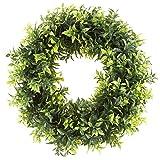 "Pure Garden 50-151 Artificial Opal Basil Leaf 11.5"" Round Wreath"