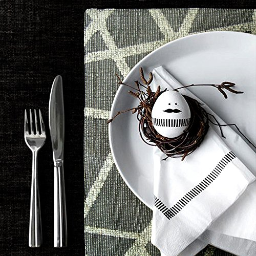 Artbisons Sets of 6 Place Mats Grey Geometry 16×12 Thickly Modern Handmade Table Mats