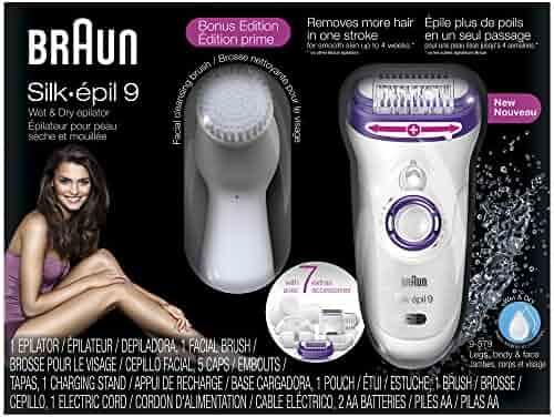 Braun Silk-épil 9 9-579 Women's Epilator, Electric Hair Removal, Wet & Dry, with Electric Razor - Bonus Edition (Packaging May Vary)