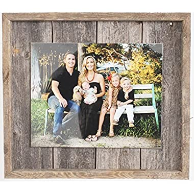 """Rustic Wall Decor Picture Frame, Farmhouse Bardwood, Home Decoration (5"""" x 7"""")"""