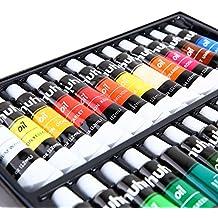 Ohuhu Oil Paint Set, 24 Oil-based Colors, Artists Paints Oil Painting Set, 12ml x 24 Tubes