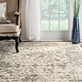 nuLOOM Traditional Distressed Persian Vintage Grey Rug (5  x 8 )