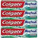 4-Pk Colgate Max Fresh Whitening Toothpaste with Breath Strips