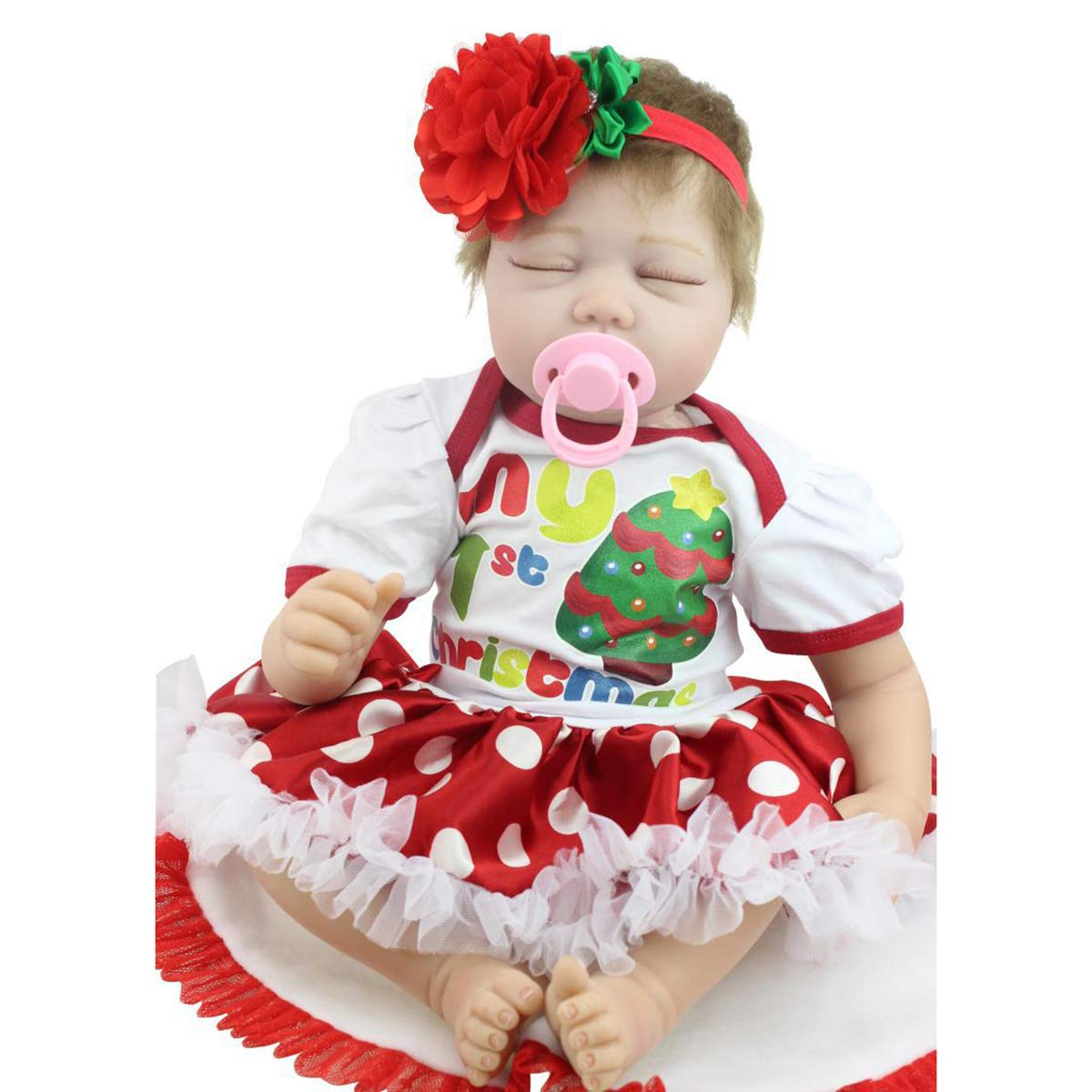 LBHE Handgemachtes Schlafen Ganzkörper-Silikon-weiches Vinyl Real suchen Reborn Babypuppen 22 ''   55cm lebensechte Neugeborene Mädchen-Puppe B07Q5ZWRVT Babypuppen Vorzüglich | Nutzen Sie Materialien voll aus