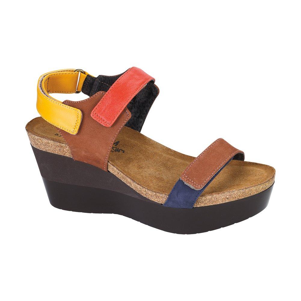 NAOT Miracle Genesis Women Sandals B01M67DCE2 41 M EU Hawaiian Brn/Orange/Sunshine