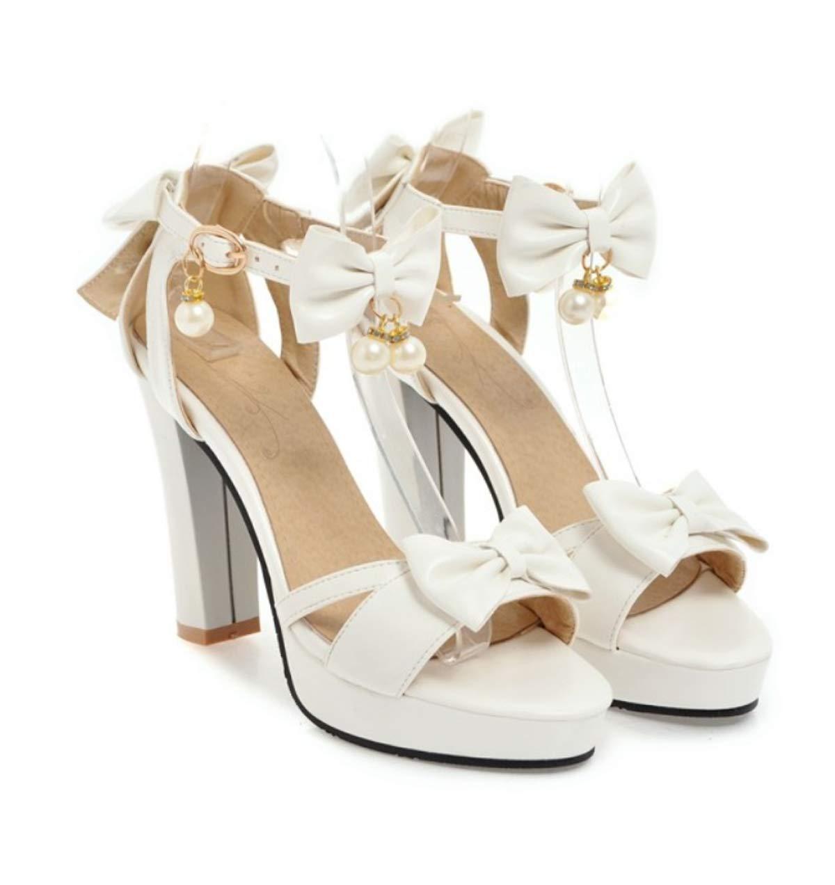 HBDLH Damenschuhe/Im Sommer 10 cm High Heels Damenschuhe Fliegen Prinzessin Schuhe Wasserdicht Plattformen.