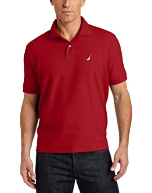 Men's Short Sleeve Solid Deck Polo Shirt